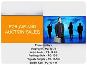 FOB, CIF and Auction Sale PPT