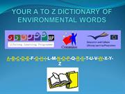 YOUR A TO Z DICTIONARY OF