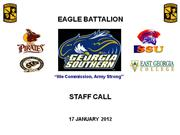 STAFF CALL 17JAN2012