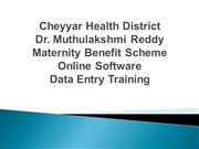 Dr Muthulakshmi Reddi Maternity Benefit Scheme Online Data Entry Train
