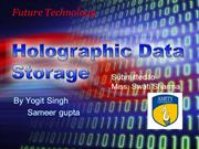 Holographic Data Storage ppt