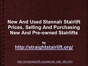 New And Used Stannah Stairlift Prices
