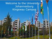 High School to University for the University of Johannesburg