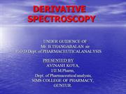 Derivative spectroscopy