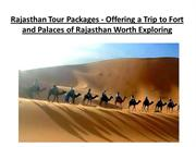 Rajasthan Tour Packages - Offering a Trip to