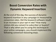 Boost Conversion Rates with Dynamic Keyword Insertion