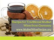 Recipe for Traditional Mulled Wine from Germany