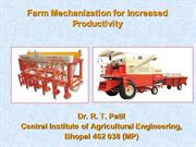 Farm Mechanisation for Increased Productivity