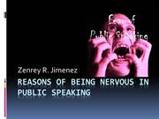 Reasons Why We Get Nervous In Public Speaking