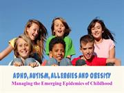 Allergies Autism ADHD Obesity
