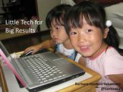 Little Tech for Big Results (IATEFL)