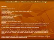 Gluten Free Flour - Gluten Free French Bread Recipe