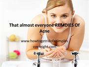Home made remedies for acne ppt