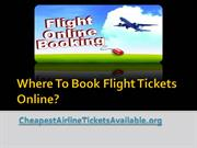 Where To Book Flight Tickets Online
