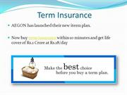 Buy term insurance at AEGON