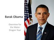 Barak Obama - Chinese new year of  the Dragon