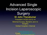 Advanced Single Incision Laparoscopic Surgery