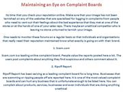 Maintaining an Eye on Complaint Boards