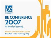 07BE-BE_Conference_07_Benefits_of_CADQA_270407