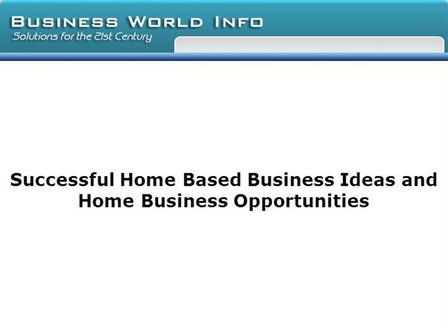successful home based business ideas and home business opportuniti