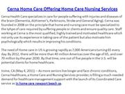 Cerna Home Care Offering Home Care Nursing Services