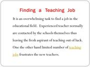 teaching jobs tips