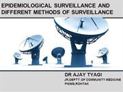 EPIDEMIOLOGICAL SURVEILLANCE AND DIFFERENT METHODS OF SURVEILLANCE