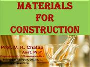 MATERIAL FOR CONSTRUCTION CHATAP