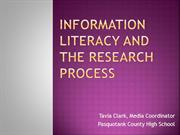 Information Literacy and Research Process