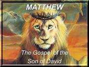 Invitation to the New Testament 4: Matthew