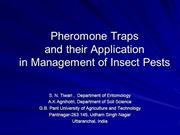 Pheromone application in IPM