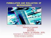 FORMULATION_AND_EVALUATION_OF_MICROSPHERES[1]