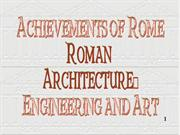 Roman Arts and Engineering