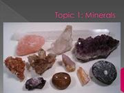 Topic 1 - Minerals