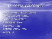 LE  COSTA  CONCORDIA LA MORT D'UN GEANT