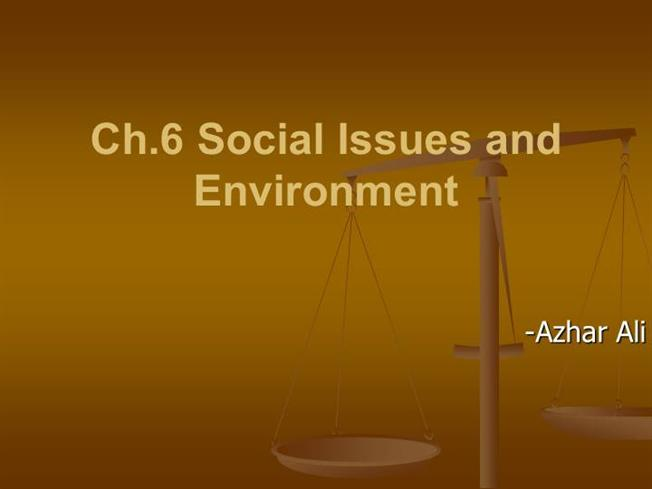 Ppt social issues: environment powerpoint presentation id:2235427.