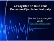 4 Easy Step To Cure P.E Naturally