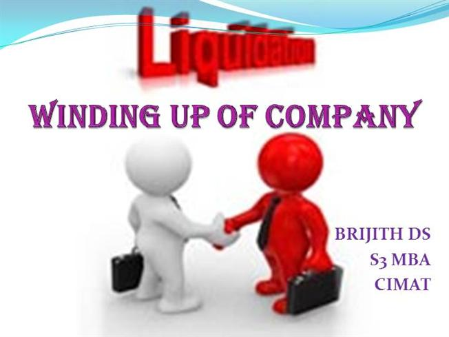 reasons for winding up of a company