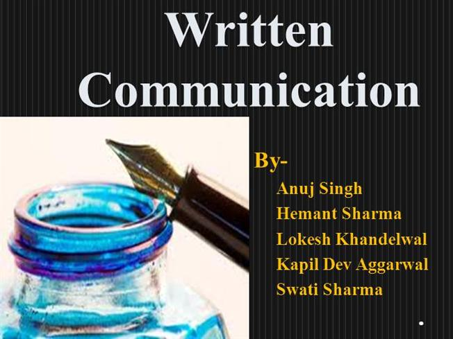 CCSWritten Communication Skills authorSTREAM – Communication Skills Ppt