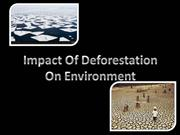 IMPACT OF DEFORESTATION ON ENIRIONMENT