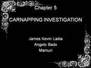 Carnapping(Special Crime Investigation)