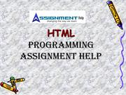 HTML Basic Programming Assignment Help