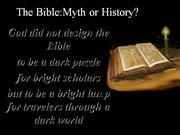 AP9 The Bible Myth or History