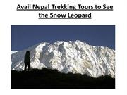 Avail Nepal Trekking Tours to See the Snow Leopard