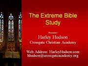 Extreme Bible Study