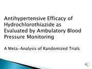 JC2012-01 Antihypertensive Efficacy of Hydrochlorothiazide as Evaluate