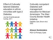 JC2012-01 Effect of Culturally Tailored Diabetes Education in Ethnic M