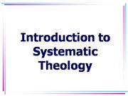 Intro to Systematic Theology Part 5