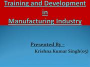 HRM ppt on T & D By Krishna