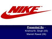 nike ppt by krishna